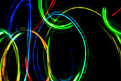 Cirklar suddig futuristisk abstrakt bakgrund Arkivfoto
