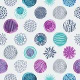 Cirklar texturerar den sömlösa modellen Fotografering för Bildbyråer
