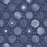 Cirklar texturerar den sömlösa modellen Vektor Illustrationer