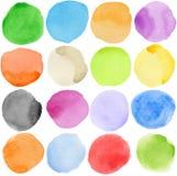 cirklar vattenfärg Royaltyfria Bilder