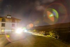 Cirklar vid refraktion royaltyfri foto