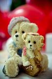 Cirklarna på blommorna, i en ask, på ett vitt tyg på leksaker, färger som gifta sig detaljer, vigselringar Royaltyfria Foton