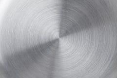 cirkulär borstad metalltextur Royaltyfri Fotografi