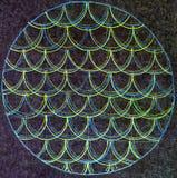 Cirkulär buktad linje modell royaltyfria bilder