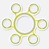 Cirkuläraskar för text vektor illustrationer