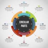 Cirkuläret särar Infographic Royaltyfria Bilder