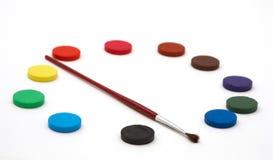 cirkulera I-vattenfärger arkivfoton