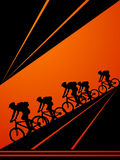 cirkulerande cyklister Royaltyfri Foto