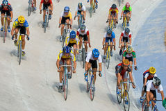 cirkulerande tävlings- velodrome arkivbilder