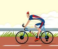 Cirkulering för cyklistridningsportar Arkivbild