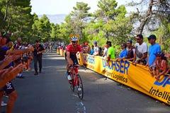 Cirkulering som springer Team Trek La Vuelta arkivbilder
