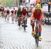 Cirkuleringsdel av triathlonen Arkivfoton