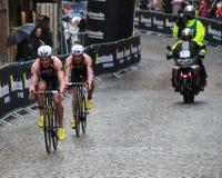 Cirkuleringsdel av triathlonen Royaltyfri Fotografi