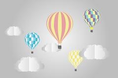 cirkus för luftballongbealton som flyger den varma photgrphed showen va stock illustrationer