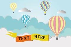 cirkus för luftballongbealton som flyger den varma photgrphed showen va vektor illustrationer
