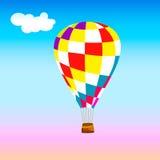cirkus för luftballongbealton som flyger den varma photgrphed showen va Royaltyfri Bild