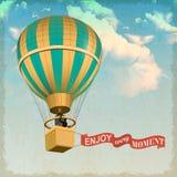 cirkus för luftballongbealton som flyger den varma photgrphed showen va royaltyfri foto
