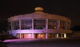 Cirkus i Almaty natt kazakhstan Arkivbild
