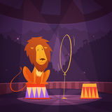 Cirkus Lion Illustration Arkivfoton