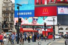 cirkus london piccadilly Arkivfoto