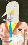 Cirkus och karnevalillustration royaltyfri illustrationer