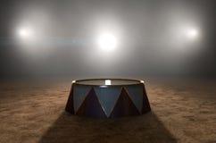 Cirkus Ring And Podium Arkivfoton