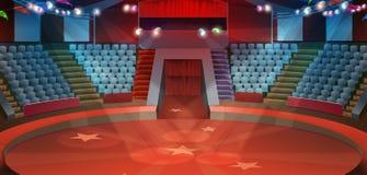 Cirkusarenabakgrund Royaltyfria Bilder