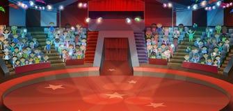 Cirkusarenabakgrund royaltyfri illustrationer