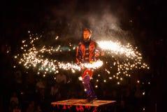 Cirkusartister Arkivbild