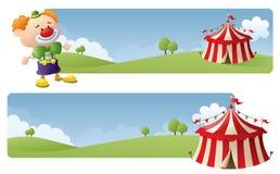 Cirkusbaner stock illustrationer