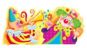 Cirkusclowner stock illustrationer