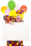 cirkusclownmeddelande Arkivfoto