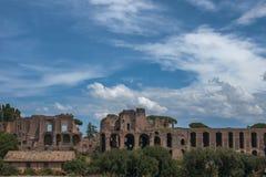 Cirkusen Maximus - Circo Massimo - romerskt forntida fördärvar Arkivbild