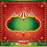 Cirkusjulbroschyr Royaltyfri Fotografi