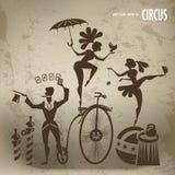 Cirkuskonstnärer vektor illustrationer