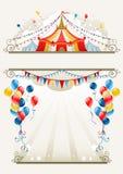 cirkusram stock illustrationer