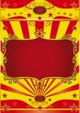 cirkusramaffisch stock illustrationer