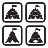 Cirkussymbol i fyra variationer Fotografering för Bildbyråer