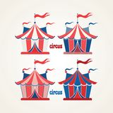 Cirkustält Arkivfoto