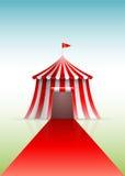 Cirkustält och röd matta royaltyfri illustrationer