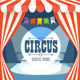 Cirkusvykortmall Arkivfoto