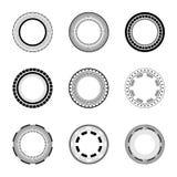 Cirlce symbols set collection Royalty Free Stock Photos
