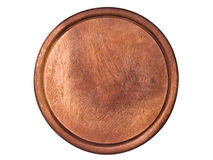 Cirlce wooden board. Cut log showing tree rings and cracks Royalty Free Stock Photos