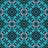 Cirles and crosses seamless pattern. Abstract colorful background, texture stock illustration
