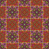 Cirles and crosses seamless pattern. Abstract colorful background, texture royalty free illustration
