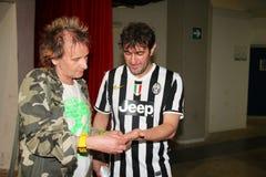 Ciro Ferrara y Paolo Solange Foto de archivo