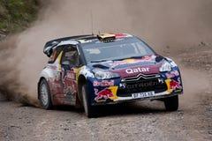 Ciroen WRC Qatar. Wales, UK - November 2012: Citroen WRC World Rally Team at the WRC Wales Rally (GB Royalty Free Stock Images