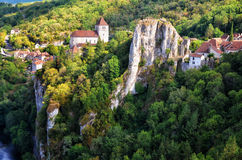 Cirq la Popie village on the cliffs Royalty Free Stock Photos