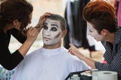 Cirque Clowns Backstage Makeup Stock Photos