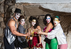 Cirque Clowns with Martinis Stock Photo